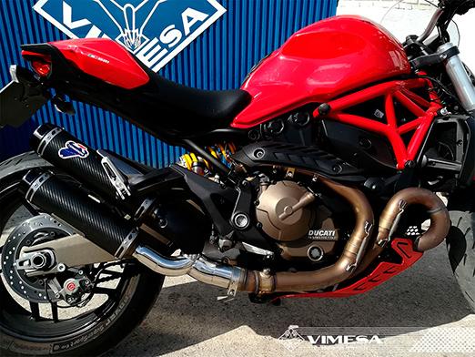 Adaptacion silencioso en Ducati